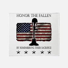Honor The Fallen Throw Blanket