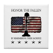 Honor The Fallen Tile Coaster