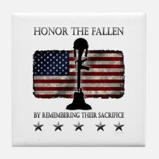 Honor The Fallen Tile Coaster