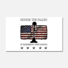 Honor The Fallen Car Magnet 20 x 12