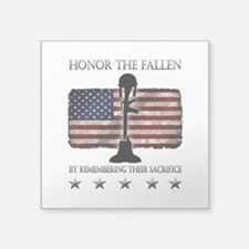 "Honor The Fallen Square Sticker 3"" x 3"""