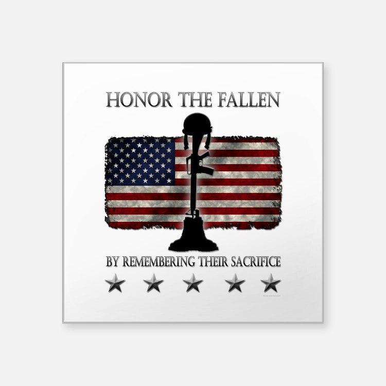 """Honor The Fallen Square Sticker 3"""" x 3"""""""