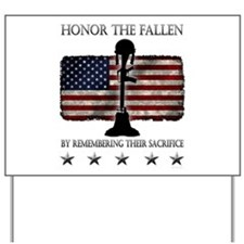 Honor The Fallen Yard Sign