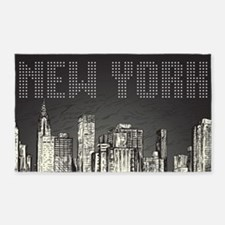 New York City 3'x5' Area Rug