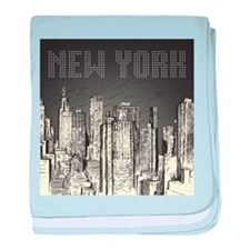 New York City baby blanket