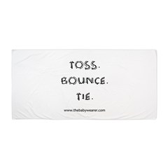 Toss. Bounce. Tie. Beach Towel