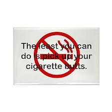 Pick Up Cigarette Butts Rectangle Magnet