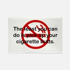Pick Up Cigarette Butts Rectangle Magnet