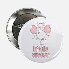 Angel Bear Little Sister Button