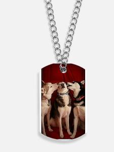 Kissing Huskies Dog Tags