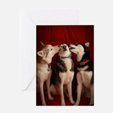 Kissing Huskies Greeting Card