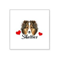 "Cute Customized dog food bowl Square Sticker 3"" x 3"""