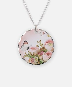Flowers and Butterflies Necklace