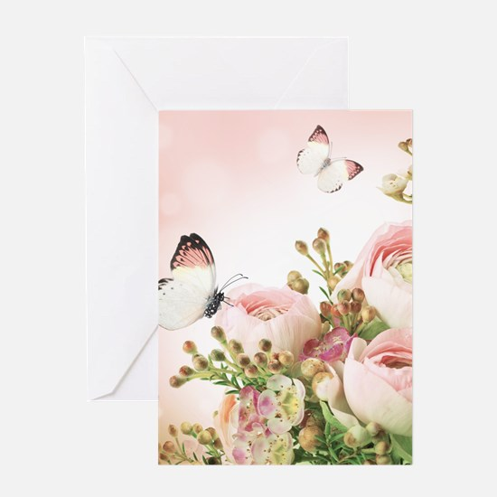 Flowers and Butterflies Greeting Cards