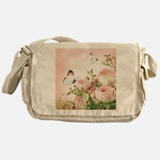 Flowers and Butterflies Messenger Bag
