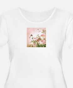 Flowers and Butterflies Plus Size T-Shirt