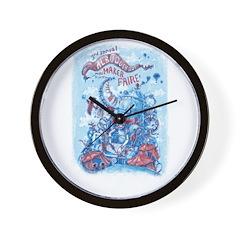 Albuquerque Mini Maker Faire Custom Art Wall Clock
