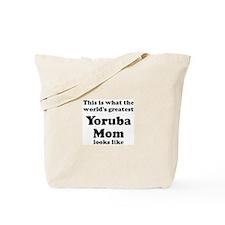 Yoruba mom Tote Bag