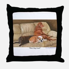 Three Dog Couch a shirt.tif Throw Pillow