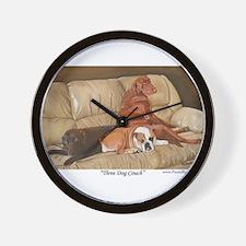 Three Dog Couch a shirt.tif Wall Clock