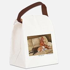 Three Dog Couch a shirt.tif Canvas Lunch Bag