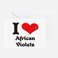 I love african violets  Greeting Cards (Package of