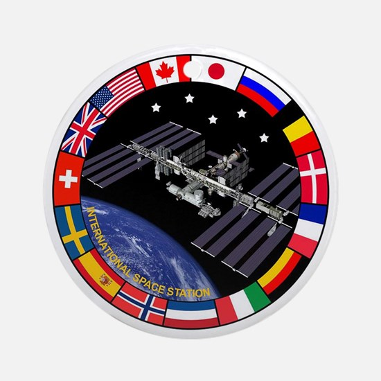 ISS Program Composite Ornament (Round)
