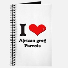 I love african grey parrots Journal