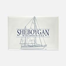 Sheboygan - Rectangle Magnet