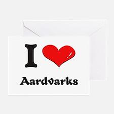 I love aardvarks  Greeting Cards (Pk of 10)