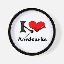 I love aardvarks  Wall Clock