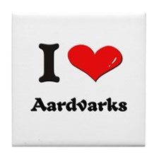 I love aardvarks  Tile Coaster