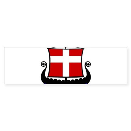 ShipDenmarkFlag2 Bumper Sticker