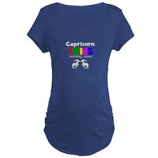 capricorn twins coming Maternity T-Shirt