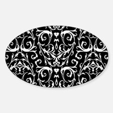 Black And White Damask Pattern Bumper Stickers