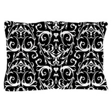 Black And White Damask Pattern Pillow Case