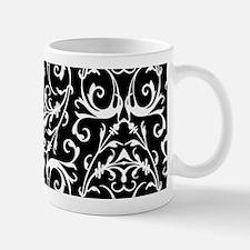 Black And White Damask Pattern Mugs