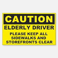 Caution: Elderly Driver Sticker (rectangle)