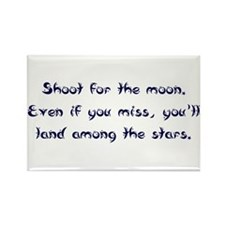 Shoot for the Moon Rectangle Magnet (10 pack)