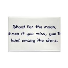 Shoot for the Moon Rectangle Magnet