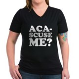 Aca scuse me Womens V-Neck T-shirts (Dark)
