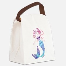 Tribal Mermaid Canvas Lunch Bag