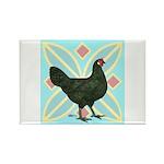 La Fleche Hen Rectangle Magnet (100 pack)
