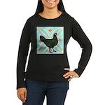La Fleche Hen Women's Long Sleeve Dark T-Shirt