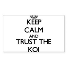 Keep calm and Trust the Koi Decal