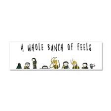 A Whole Bunch of Feels Car Magnet 10 x 3