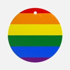 Rainbow flag Ornament (Round)