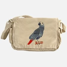African Grey Parrot copy Messenger Bag