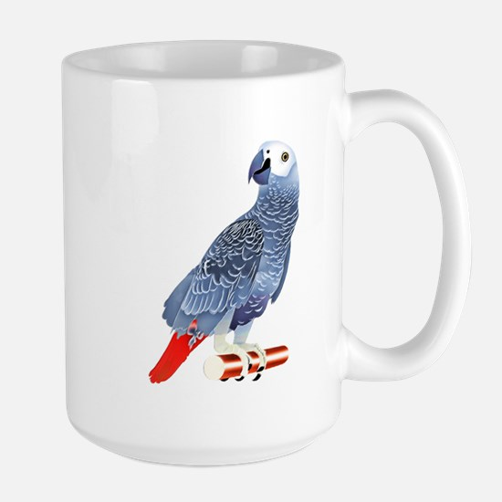 African Grey Parrot copy Mugs