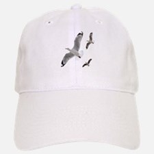 3 Gulls in Flight copy Baseball Baseball Baseball Cap